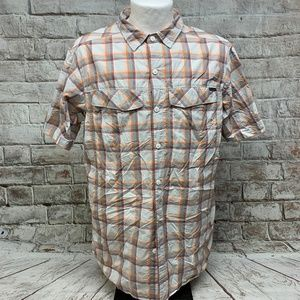 Columbia Mens Omni Shade Shirt Size Large Fitted